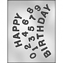 Happy Birthday Numbers Chocolate Mold