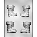 "3D Santa Boot Chocolate Mold - 3"" MAKES A CUTE CHOCOLATE BOMB"