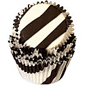 Animal Print - Black Zebra Stripe Baking cups