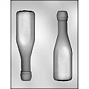 3D Champagne Bottle Chocolate Mold - 7""