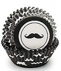 Mustache Baking Cups