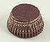 Glassine - Brown w/Gold Danish - Mini Round Baking/Candy Cups