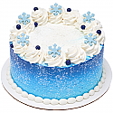 Chocolate - Snowflakes - Light Blue - 12 count