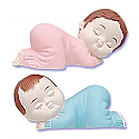 Sleeping Babies Pink and Blue