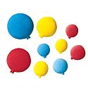 Primary Birthday Balloons (Medium) Sugar Decorations