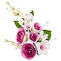 "Large Spray - Purple Roses - 6.4"""