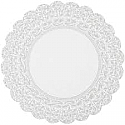 Scalloped Cardboard - Gray and White - 12 inch
