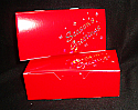 1/2 lb. 1 Piece Candy Box 5 1/2 x 2 3/4 x 1 3/4 in. - Red Season's Greetings