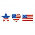 American Flag Asst Sugar Decorations
