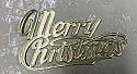 Gold Merry Christmas Layon