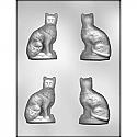 "3D Cat Chocolate Mold - 3 1/8"""