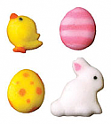 Adorable Easter Mini Assorted Sugar Decorations