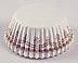 Glassine - White w/Gold Danish - Mini Round Baking/Candy Cups