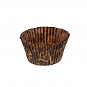 Bulk Item - Brown with Gold Swirl Baking cups - Full Sleeve