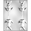 3D Bunny Sucker Chocolate Mold