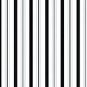"""Black and White Stripe Cello Bag - 3.5"""" x 2"""" x 7.5"""""""