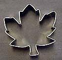 "Sugar Leaf Maple Cookie Cutter - 3.5"""
