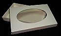 1 lb. 2 Piece Oval Window Candy Box: 9 5/8 x 6 1/8 x 1 1/8 in.