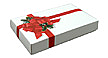 BULK ITEM - 1/2 lb. 2 Piece Candy Box: 7 x 4 1/2 x 1 in. - Ribbon and Holly - Pkg 25