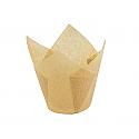 Bulk Item - Kraft Tulip Baking Cup - Full Sleeve