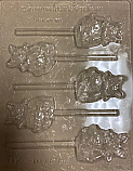Cat on Pumpkin Sucker Chocolate Mold
