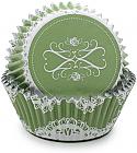 Green Elegant Foil Standard Baking Cups
