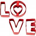 Love Valentine Cookie Cutter Set - 4 Piece