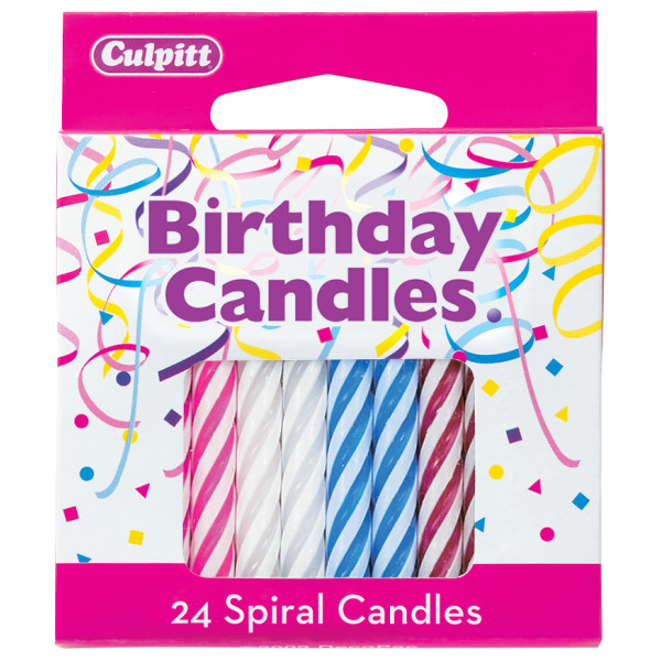 Assorted spiral (with white) Candles